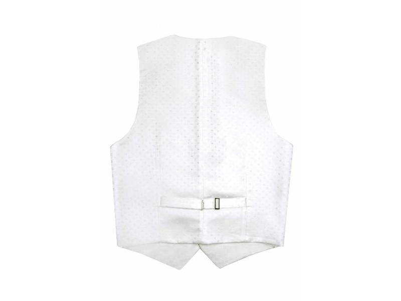 Profuomo Off-white silk wedding waistcoat