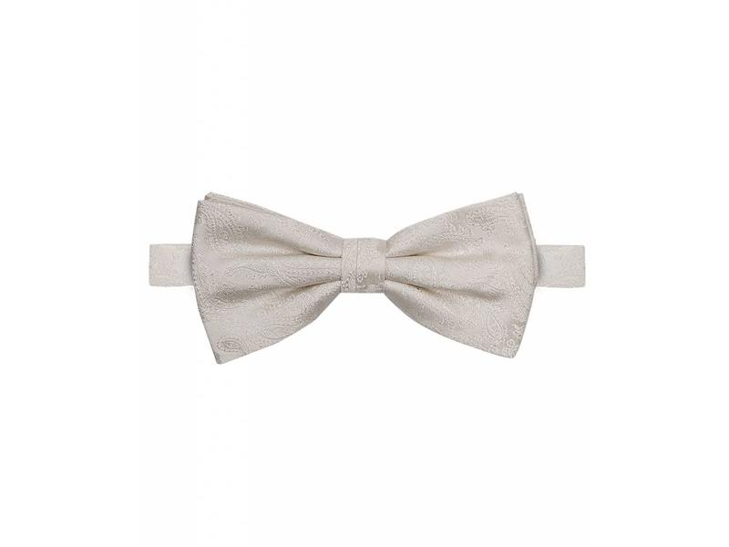 Profuomo Off-white silk wedding bowtie