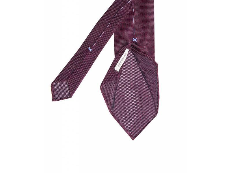 Profuomo Burgundy open-weave 3-fold zijden das
