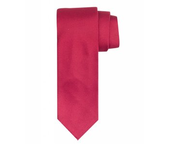 Profuomo Red imperial oxford 7-fold silk tie
