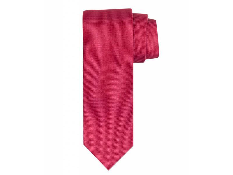 Profuomo Red imperial oxford 7-fold silk tie