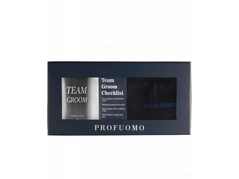 Profuomo Team groom checklist giftset Navy