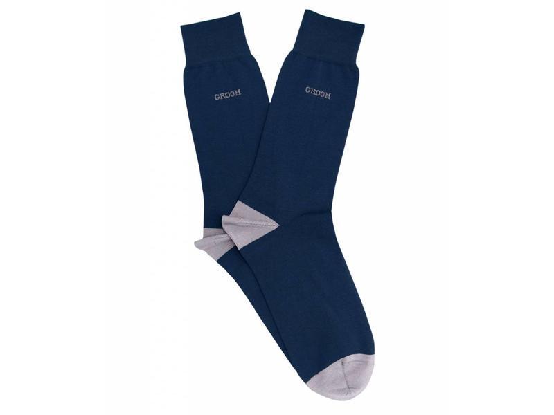 Profuomo Navy Groom gemerceriseerde sokken