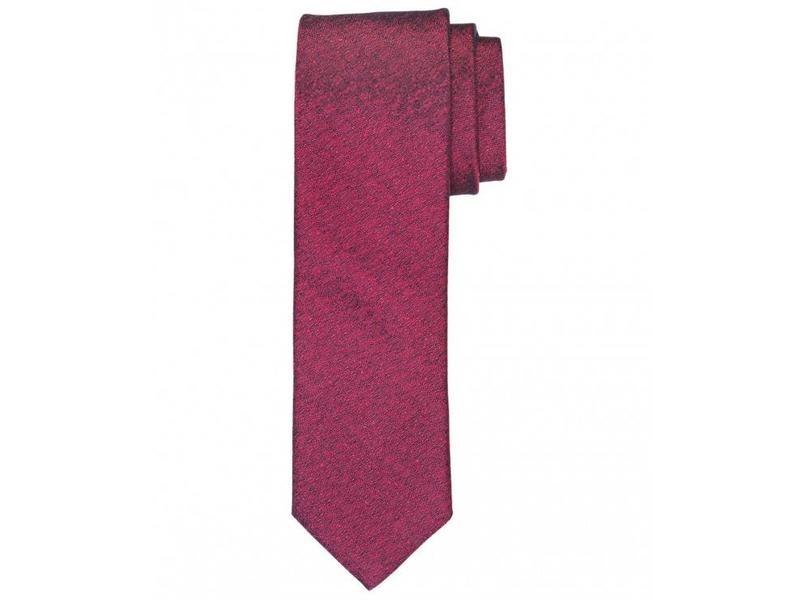 Profuomo Bordeaux woven silk-cotton tie