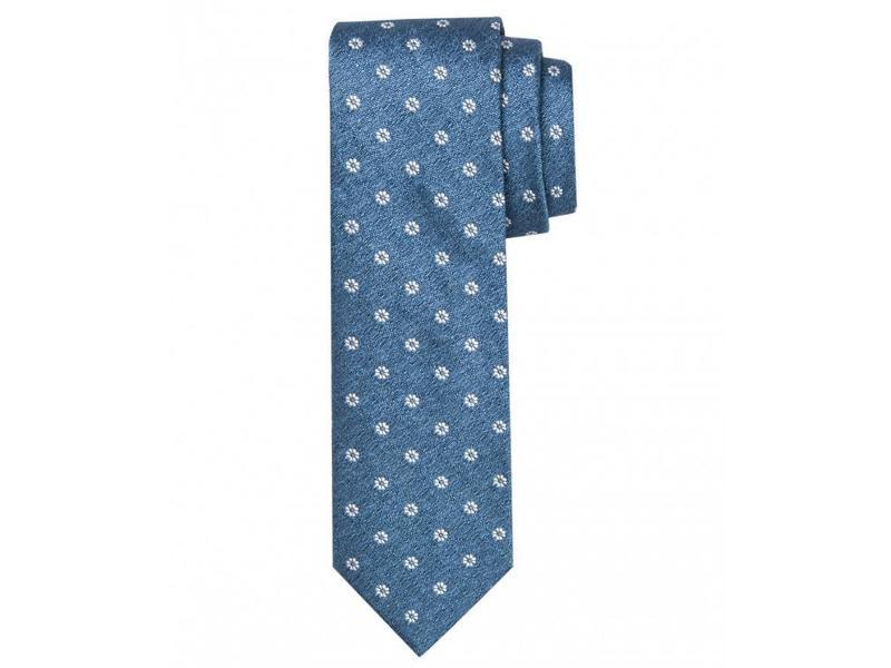 Profuomo Blue woven silk-cotton tie
