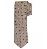 Profuomo Camel woven silk-cotton tie