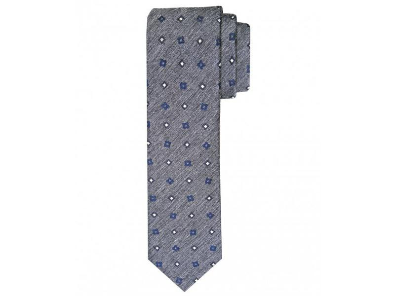 Profuomo Grey woven silk-cotton tie