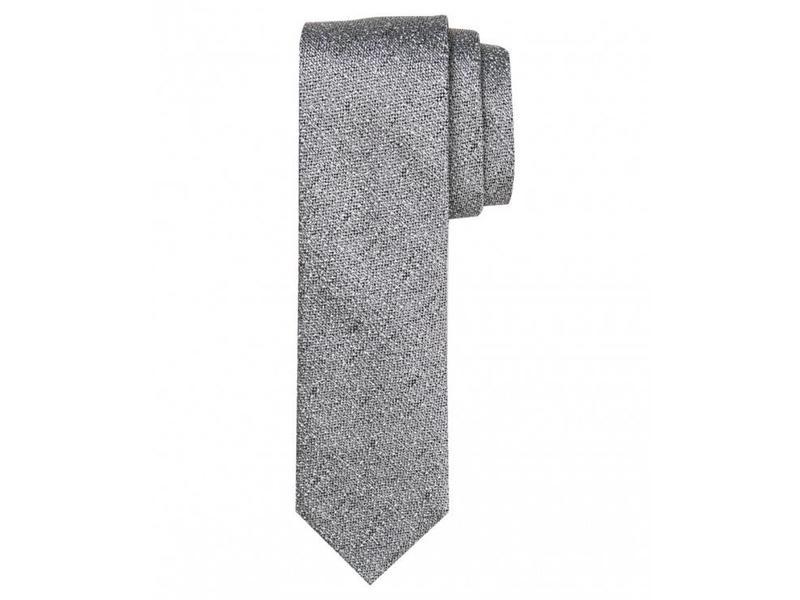 Profuomo Grey woven silk tie