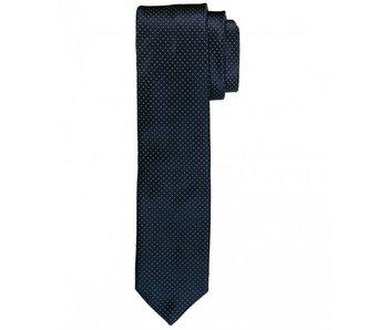 Profuomo Navy dot skinny silk tie