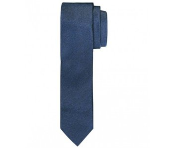 Profuomo Navy melange skinny silk tie