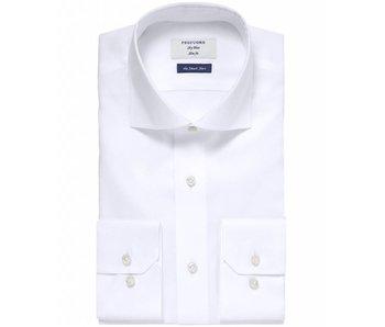 Profuomo Sky blue white smart shirt slim fit non iron