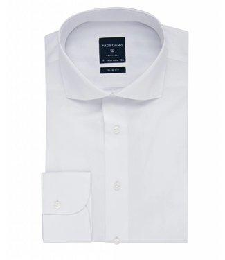 Profuomo Originale white cutaway collar slim fit