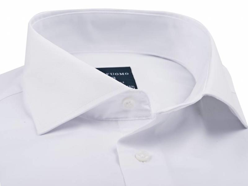 Profuomo Originale white cutaway collar single cuff slim fit