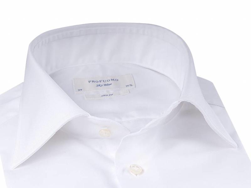 Profuomo Sky blue cutaway collar double cuff slim fit