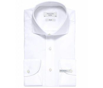 Profuomo Sky blue white slim fit extra long sleeve