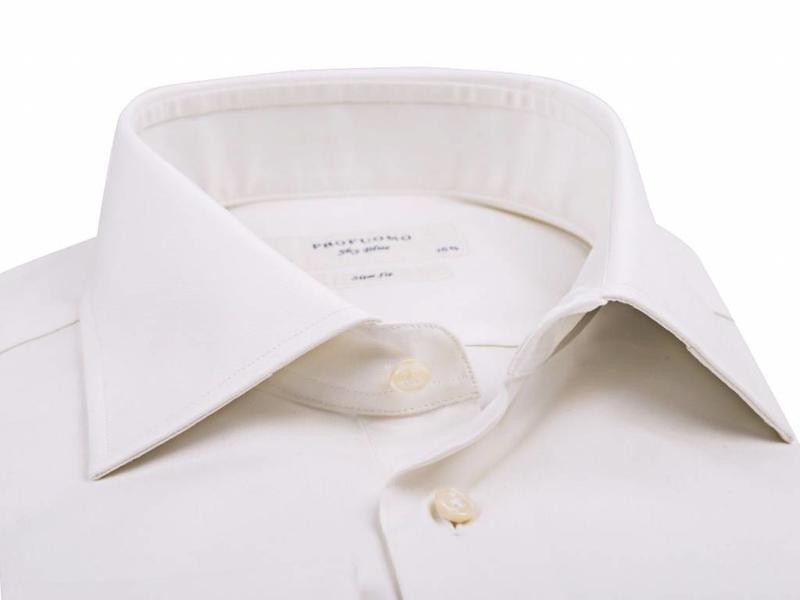 Profuomo Shirt Off white royal twill wedding extra longe sleeve
