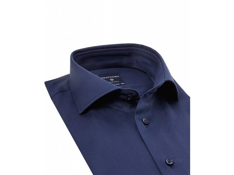 Profuomo Originale Navy shirt cutaway collar slim fit