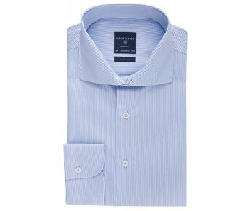 Profuomo Originale blue stripe cutaway collar
