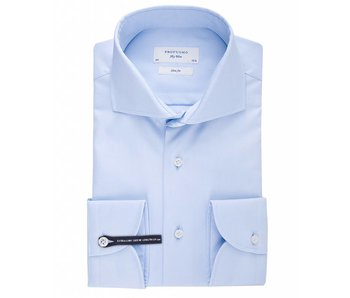 Profuomo Sky blue slim fit extra long sleeve white shirt