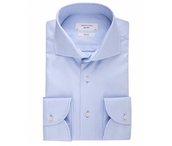 Profuomo Sky blue slim fit blue shirt single cuff