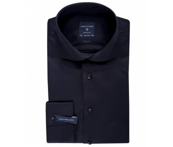 Profuomo Originale Black extra long sleeve cutaway collar