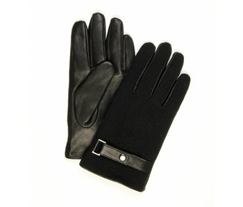 Profuomo Glove Black knitted and leather