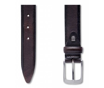 Profuomo Belt Lthr Side Polish Brown