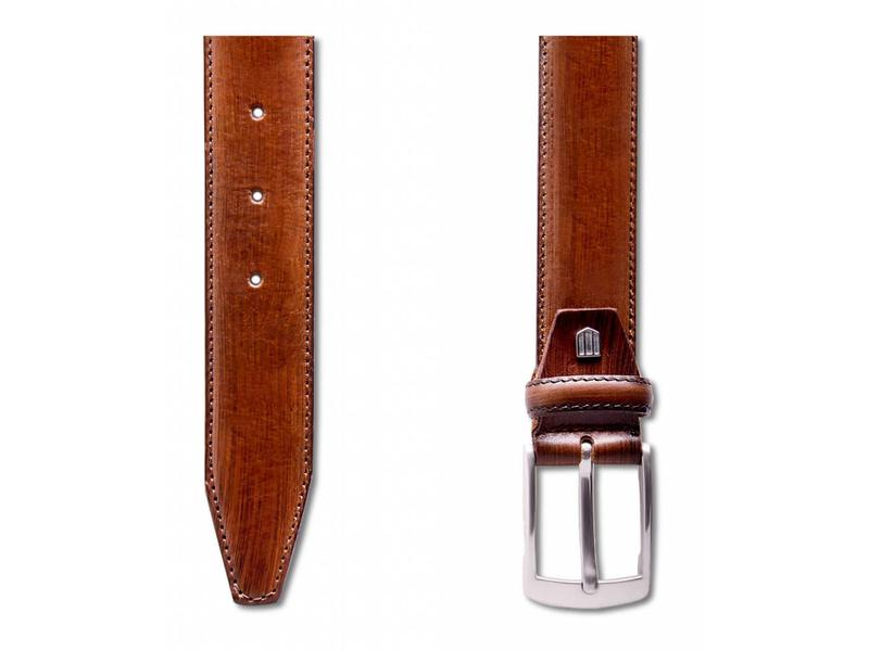 Profuomo Belt Leather Cognac Handpolish