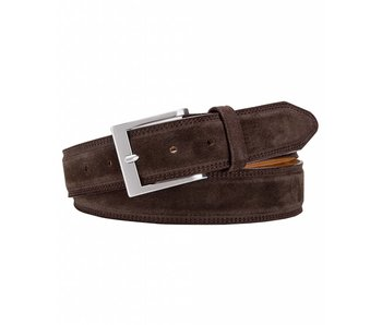 Profuomo Belt Suede Dark Brown
