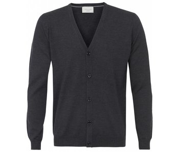 Profuomo Cardigan Button Antracite