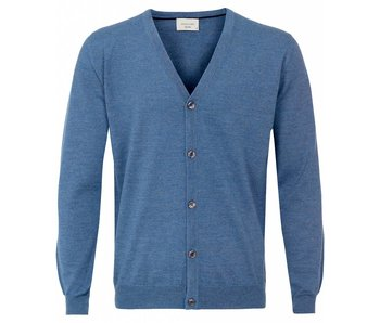 Profuomo Cardigan Button Sky