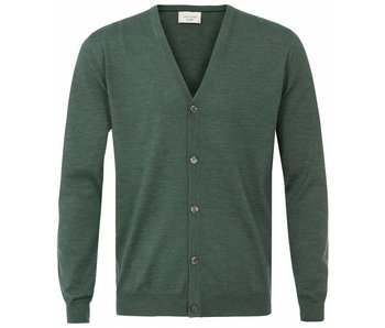 Profuomo Cardigan Button Reseda