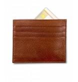 Profuomo Wallet Cognac leather card