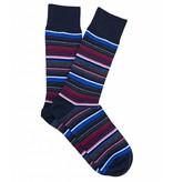 Profuomo Tonal pink striped cotton socks
