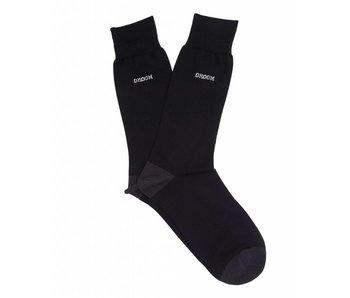 Profuomo Black mercerized socks