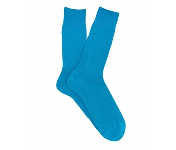 Profuomo Aqua rib mercerised cotton socks