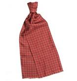 Profuomo Scarf Silk Twill Print Red