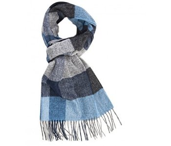 Profuomo Scarf Blue Check In Box