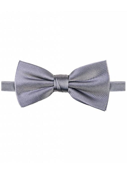 Michaelis Bowtie grey solid silk.