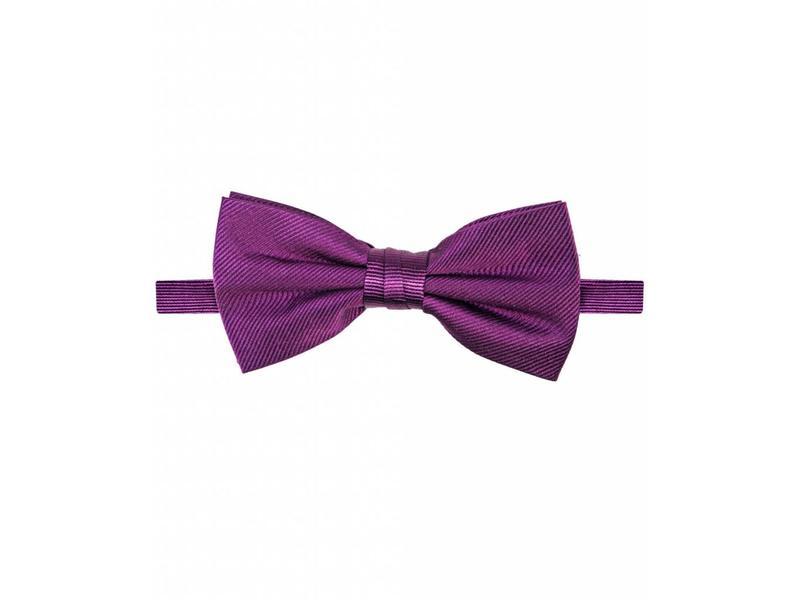 Michaelis Bowtie aubergine solid silk.