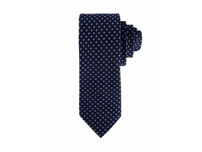 F&H  Blue silk tie