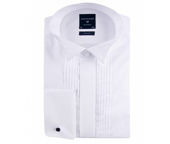 Profuomo Originale smoking shirt plisse