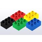 Hubelino Hubelino Bouwstenen kleur mix, 6 noppen, 56 stuks