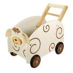 I'm Toy Houten Loop / duwwagen Schaap met speelgoedkist