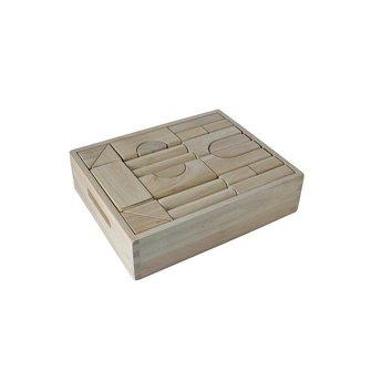 Angel Toys Houten Blokkenset in kist 40 stuks
