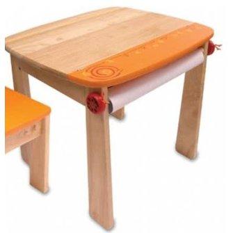 I'm Toy houten tekentafeltje met rol oranje IM42023OR
