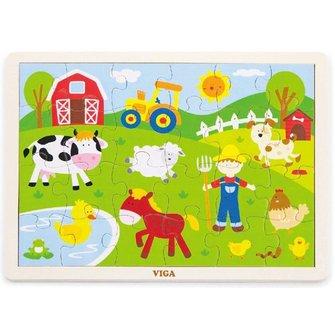 Viga Toys Klassieke boerderij puzzel