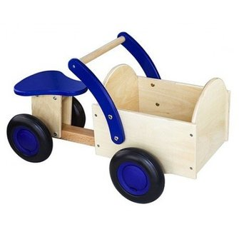 New Classic Toys Houten Bakfiets Blauw