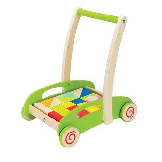 Hape Block & Roll houten loopwagen