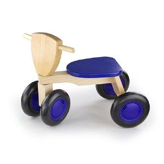 New Classic Toys Loopfiets 4 wielen blauw